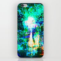 "hologram iPhone & iPod Skins featuring "" The voice  is a second face"" by shiva camille"