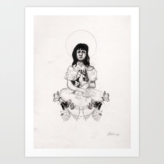 The Girl With Half a Lung Art Print