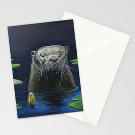 The River Otter by Teresa Thompson Stationery Cards