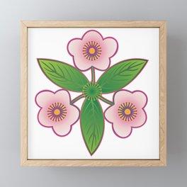 Triple pink Framed Mini Art Print