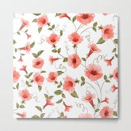 Bindweed , floral background Metal Print