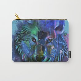 wolf tropical art decor Carry-All Pouch