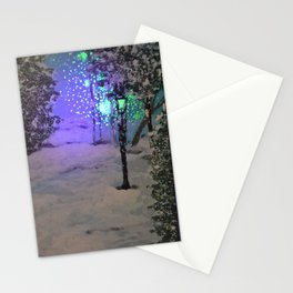 Lantern in the forest Stationery Cards
