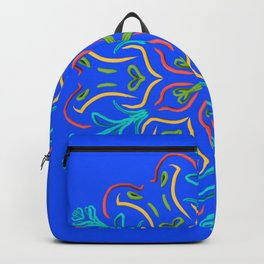 Llegó la primavera (en azul brillante) Backpack
