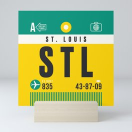 Luggage Tag A - STL St Louis USA Mini Art Print