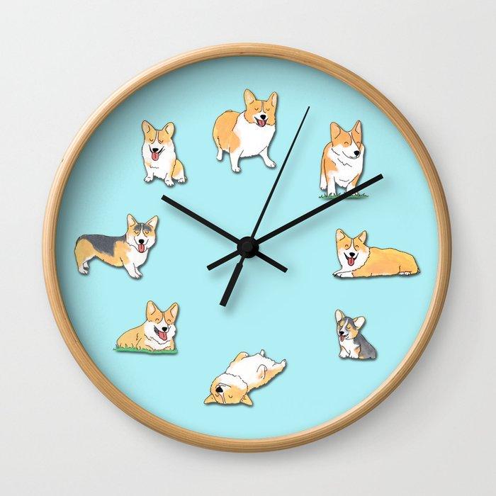 Corgi Wall Clock