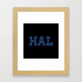 HAL Blue Framed Art Print