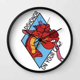 Dishonor on you! Wall Clock