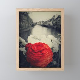 Vintage red Framed Mini Art Print