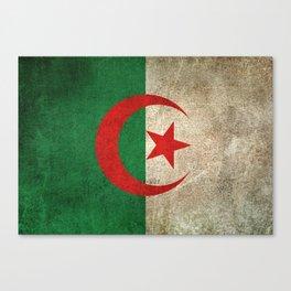 Old and Worn Distressed Vintage Flag of Algeria Canvas Print
