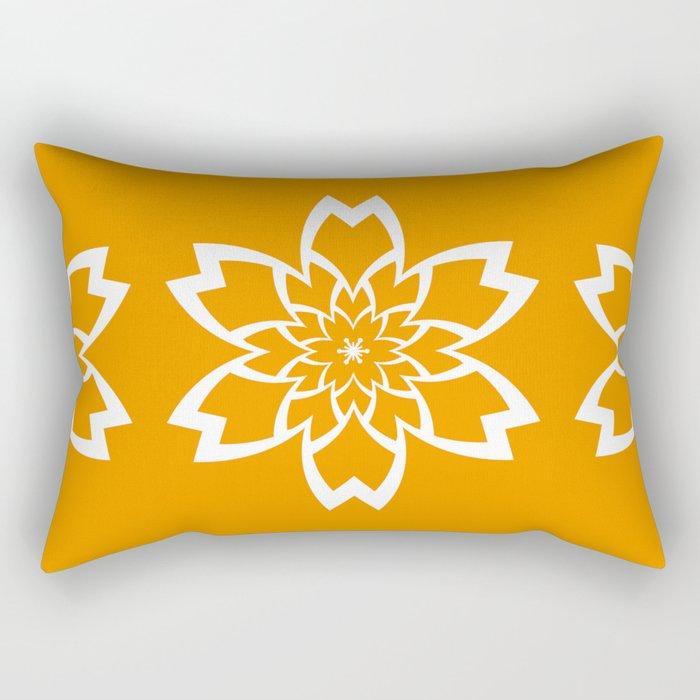 Orange Flower Rectangular Pillow