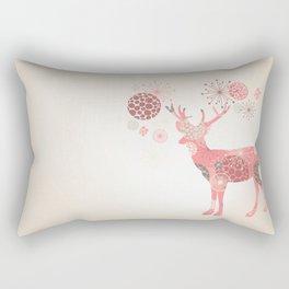 Flower deer Rectangular Pillow