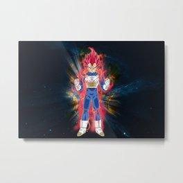 Vegeta Super Saiyan God Metal Print