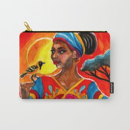 African and Indian Girls - Day VS Night Carry-All Pouch