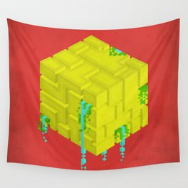 Cubic - Red Wall Tapestry
