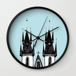 Tyn Church - Prague Wall Clock