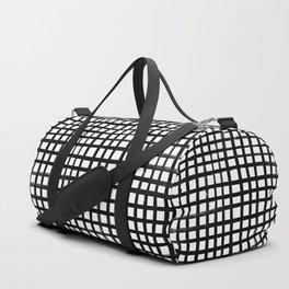 Hand-painted Grid Duffle Bag