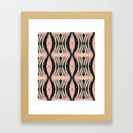 Floating Alone In An Empty Heart (Pattern 1) Framed Art Print