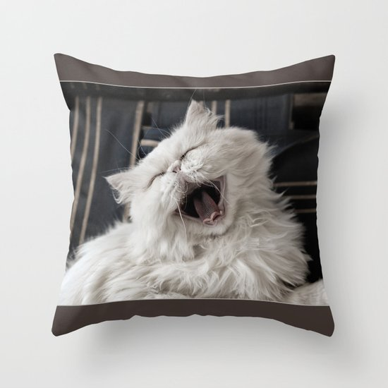 They say that NOTHING beats a good belly laugh! Throw Pillow