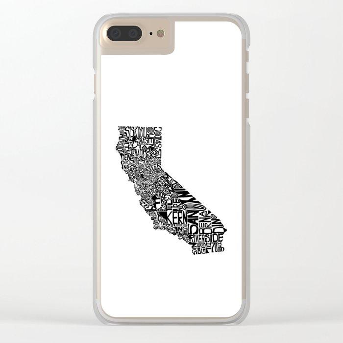 Typographic California Clear iPhone Case