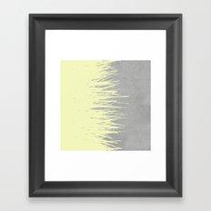 Concrete Fringe Yellow Framed Art Print