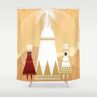 journey Shower Curtains featuring Journey by OhhhKaye