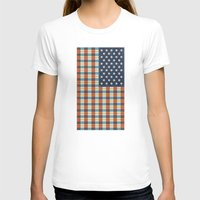 plaid T-shirts featuring Plaid Flag. by Nick Nelson