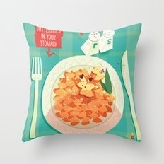 :::Butterflies in your stomach::: Throw Pillow