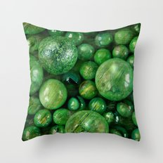 Greenballs Throw Pillow