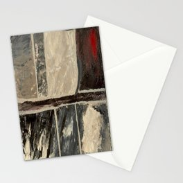 Textured Marble Popular Painterly Abstract Pattern - Black White Gray Red Stationery Cards