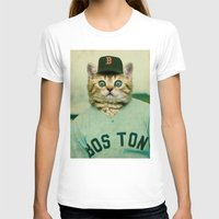 baseball T-shirts featuring Baseball Cat by Luigi Tarini