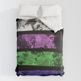 Rank Of Colour I - Abstract, textured, pastel themed artwork Comforters