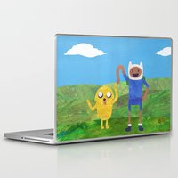finn and jake Laptop & iPad Skins featuring Finn And Jake! by Ben Morgan