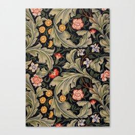 William Morris Laurel Multi-Colored Floral Textile Pattern Sunflower, Aster, Dahlia Canvas Print