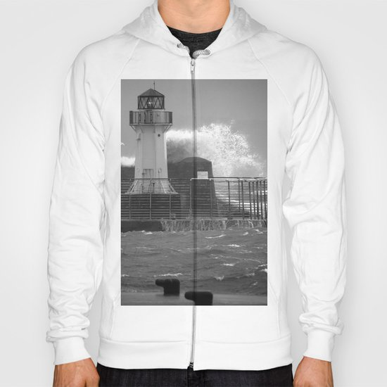 Ardrossan Lighthouse Versus the Sea Hoody