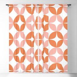 Mid Century Modern Motif Pattern in Burnt Orange and Blush Blackout Curtain
