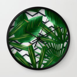 Tropical Greens Wall Clock