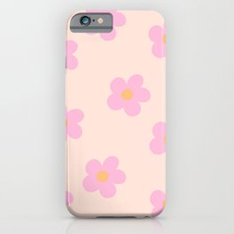Retro 60's Flower Power 4 iPhone Case