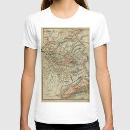 Vintage Montserrat Spain Map (1913) T-shirt
