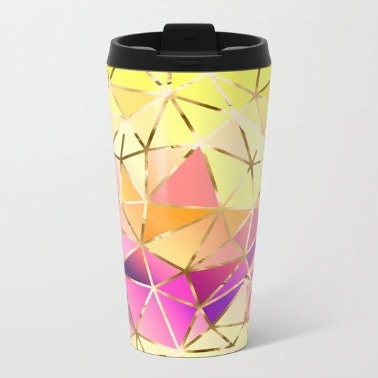 Rainbow Geometric pattern #5 Metal Travel Mug