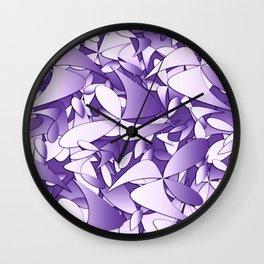 Pattern violet 211 Wall Clock