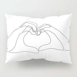 Hand Heart Pillow Sham