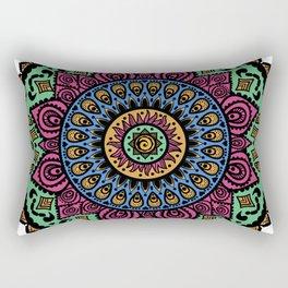 Mandala Technicolor Rectangular Pillow