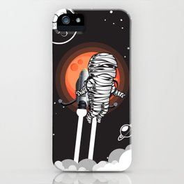 Mummy on Space Journey iPhone Case