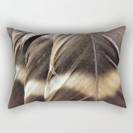 Barred Owl Feathers Rectangular Pillow
