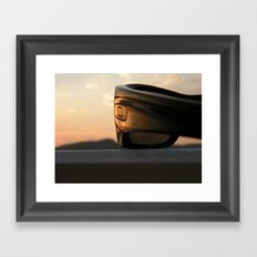 Oakley sunset Framed Art Print