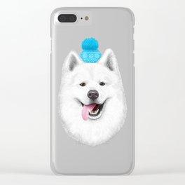Samoyed Clear iPhone Case
