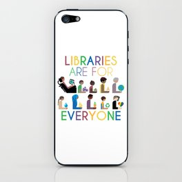 Rainbow Libraries Are For Everyone iPhone Skin
