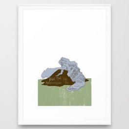 Pelean Volcanic Eruption Framed Art Print