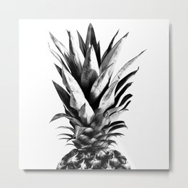 Pineapple Black & White Dream #1 #tropical #fruit #decor #art #society6 Metal Print